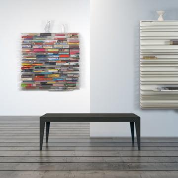 Das Paperback Regalsysteme befüllt und leer