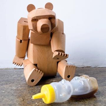 areaware wooden creatures ursa der bär