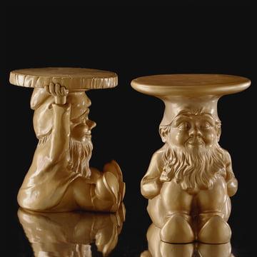 Kartell - Gnomes Beistelltische Napoleon und Attila, gold