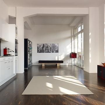 Ruckstuhl - Teppich Feltro, grauweiss 40180 - Ambiente