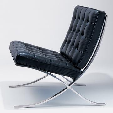 Knoll - Barcelona Sessel, schwarz