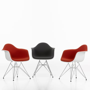 Eames Plastic Armchair DAR - Vollpolster