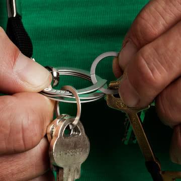 Nagelfreundlicher Schlüssselbund: Free-Key Schlüsselring von Drosselmeyer