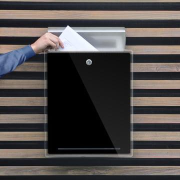 Radius Design - Briefkasten Letterman III, schwarz - Einwurf