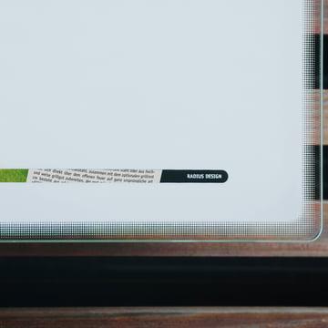 Radius Design - Briefkasten Letterman III, weiß - Detailansicht