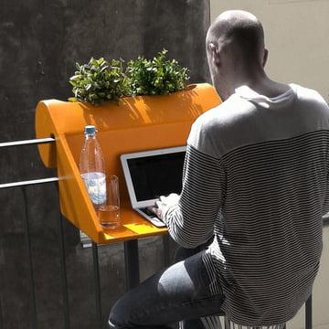 rephorm - Balkonzept, orange - Arbeitsplatz