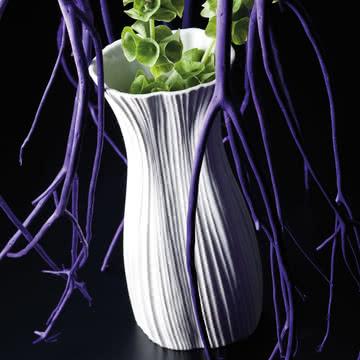 Rosenthal - Plissée Vase, weiß
