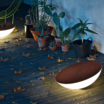 Foscarini Solar Outdoor-Bodenleuchte in Braun