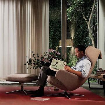 Lese Sessel lesesessel mit ohne hocker in modernem design connox