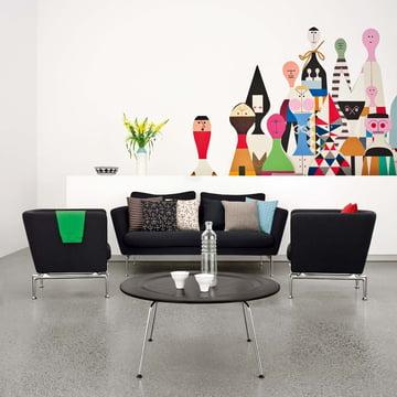 Vitra - Suita Sofa, schwarz - Ambiente