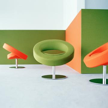 Softline - Hello Drehsessel - Gruppe, orange, grün