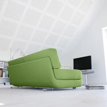 Softline - Lounge 3-er Schlafsofa, grün - Ambiente