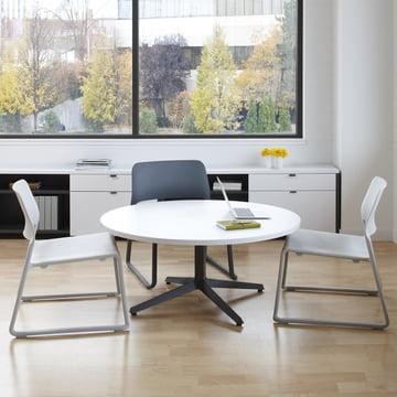 Knoll - Spark Lounge Stuhl, hellgrau, schwarz - Ambiente