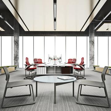 Knoll - Spark Lounge Stuhl, schwarz - Ambiente, Büro