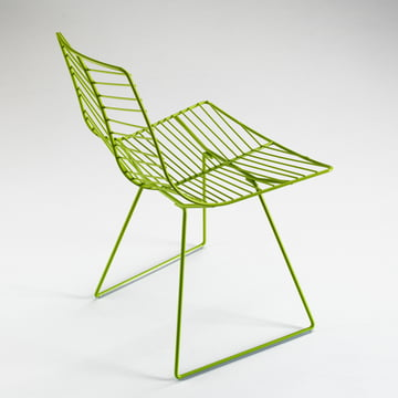 arper - Leaf Stuhl, grün - grauer Hintergrund