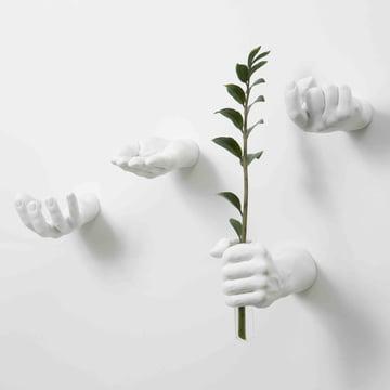 Weiße Hand Hooks von Areaware
