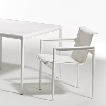 Knoll - 1966 Esstischstuhl, rechteckig, weiß