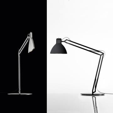 Ingo Maurer - Looksoflat Tischlampe, silber, schwarz