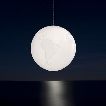 Formagenda - Planet Earth Pendelleuchte - Tisch, dunkel