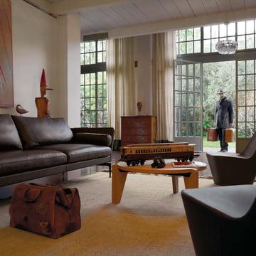 Vitra - Guéridon Bas Couchtisch, Eiche natur - Wohnzimmer