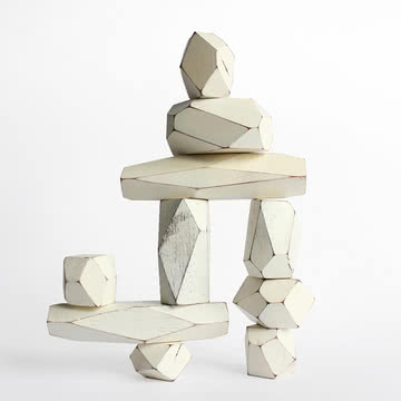 Areaware - Balancing Blocks Holzspielzeug, weiß