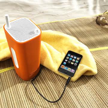 Sonoro - CuboGo London DAB+ Radio, weiß/ orange - Strand, iPod