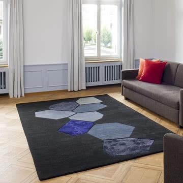 Ruckstuhl - Landscape Teppich, schwarz