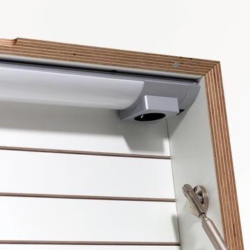 Müller Möbelwerkstätten - Flatbox, weiß - Detail, Lampe