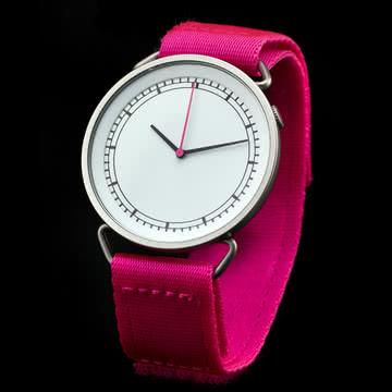 Rosendahl - MUW Armbanduhr, weiß / pink