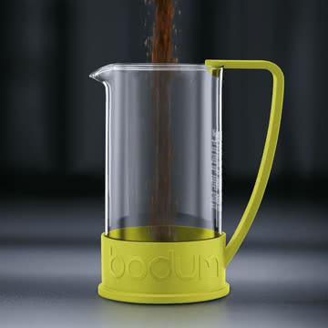 Bodum - Brazil Kaffeebereiter, 1,0 L, Limette - Zubereitung 1