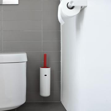 Authentics - Lunar WC-Bürste wandhängend, rot