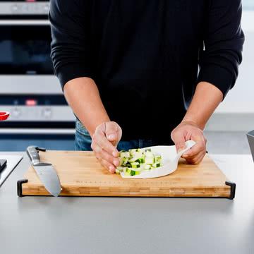 Royal VKB - Chop Organizer, weiß - Gemüse auf den Deckel