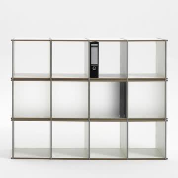 Aktenpack 3x4 von Tojo in Weiß