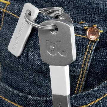 Bluelounge - Kii USB-Adapter, Lightning silber - Hosentasche