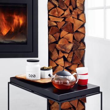 Eva Solo - Caffee lungo Becher, rot / Teezubereiter mit Tee-Ei