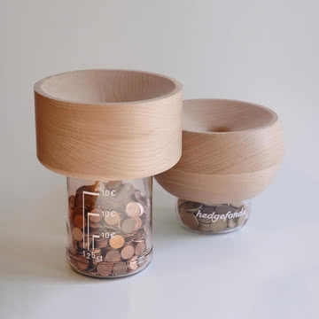 Lessing - Spardose Hedgefonds - beide Größen