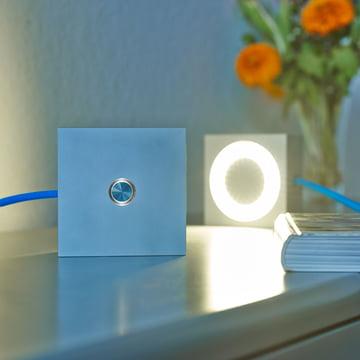 Tecnolumen - Square - leuchtend, Vorder- u. Rückseite