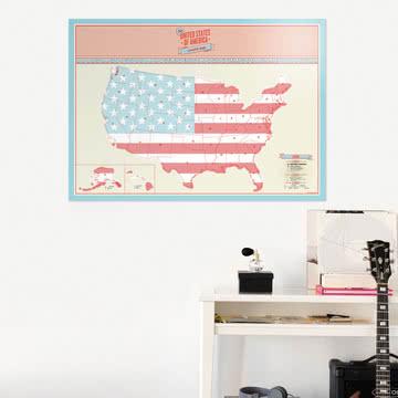 Luckies - Scratch Map USA