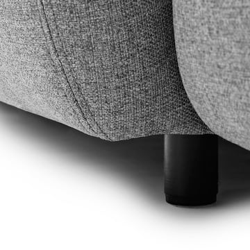 Normann Copenhagen - Swell 3-Sitzer, grau - Detail, Fuß