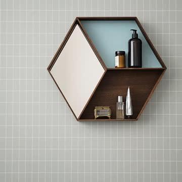 Ferm Living - Wall Wonder Spiegel, geräucherte Eiche