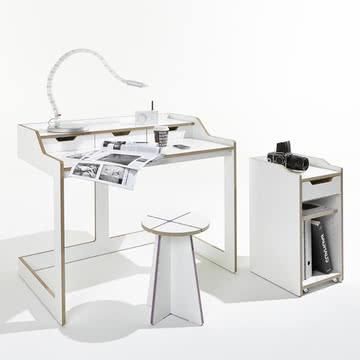 Müller Möbelwerkstätten - Plane Sekretär mit Container, offen