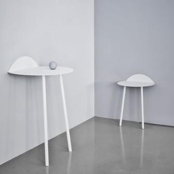 Yeh Wand-Tisch von Menu in Weiß