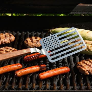 areaware - Star-Spangled Grillwender, Walnuss