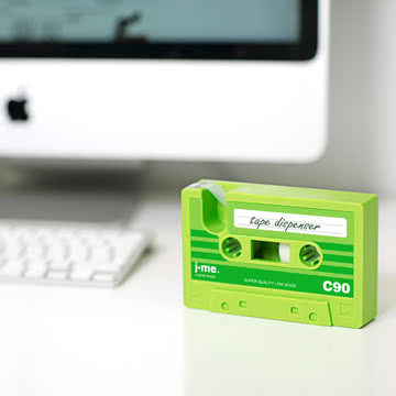 j-me - cassette tape Klebeband-Abroller, grün