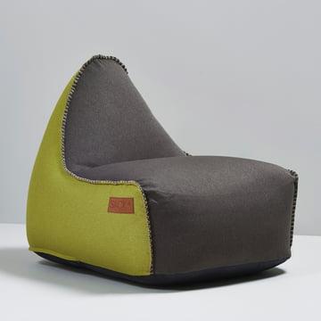 Sack it - Retro it Indoor Sitzsack, braun / lime