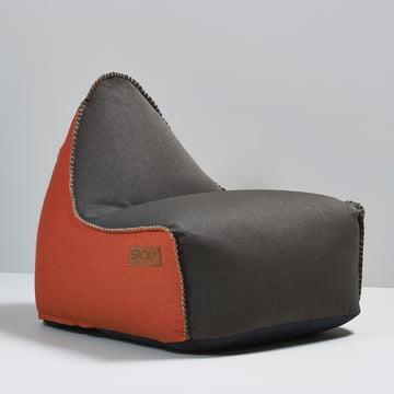 Sack it - Retro it Indoor Sitzsack, braun / orange
