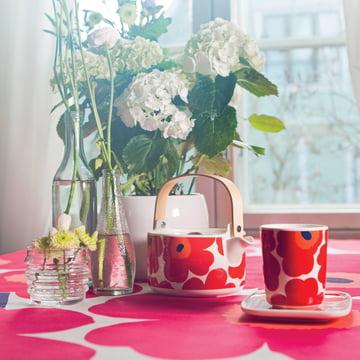 Oiva Unikko Teekanne und Becher von Marimekko