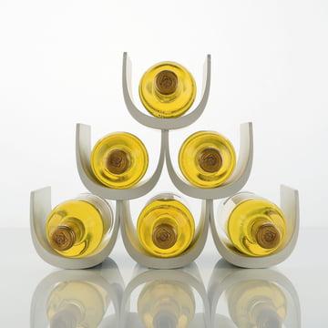 Alessi - Noè Flaschenregal mit Baukastensystem, gefüllt, weiß