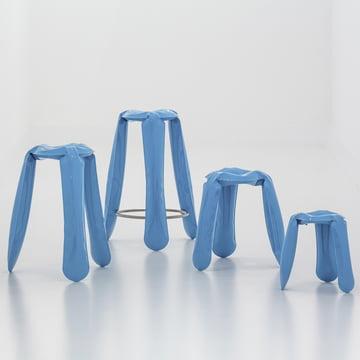 Die Plopp Hocker Family in Blau