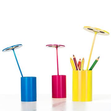 Formagenda - E.T. Tischleuchte, blau, gelb, magenta - Stifte